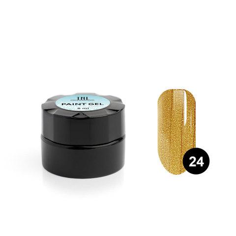 Гель-краска для дизайна ногтей TNL №24 (золото), 6 мл.