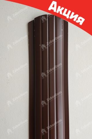 Евроштакетник металлический 110 мм RAL 8017 полукруглый 0.5 мм