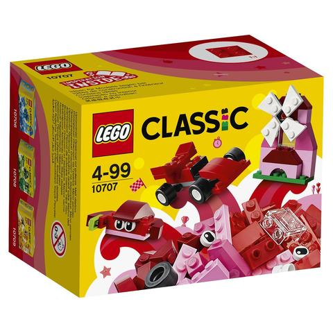 LEGO Classic: Красный набор для творчества 10707 — Red Creativity Box — Лего Классик