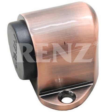 Фурнитура - Ограничитель Дверной напольный Renz DS 31, цвет медь античная