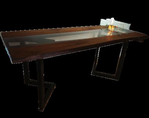 Стол с биокамином Firetable Slebs Brown 2000MS