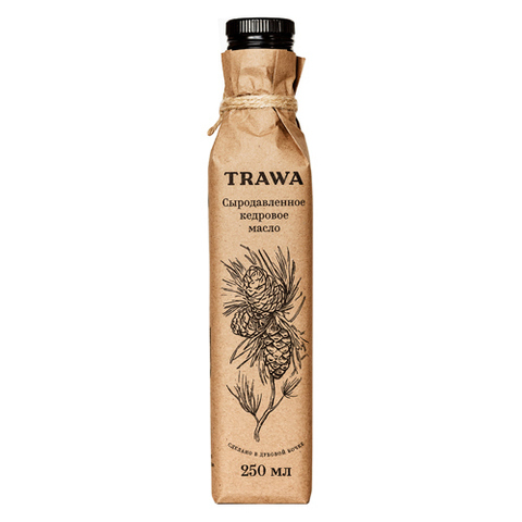 TRAWA, Масло сыродавленное кедровое, 250мл