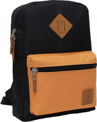 Рюкзак Bagland Молодежный mini 8 л. чёрний/рыжий (0050866)