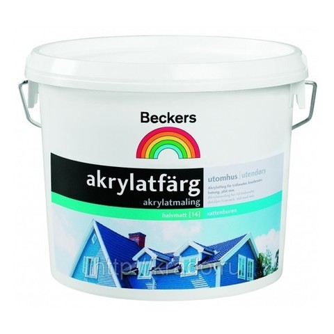 Краска фасадная Beckers Akrylatfarg BAS A 2,7 л