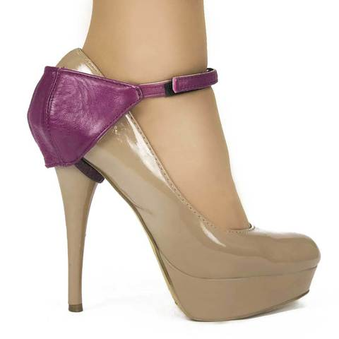 Автопятка для женской обуви на каблуке баклажан