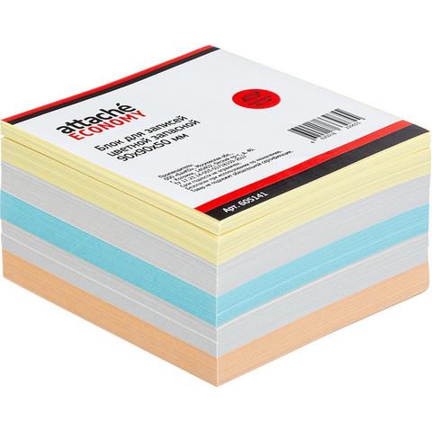 Блок-кубик ATTACHE ЭКОНОМ запасной 9х9х5 цветной