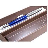 Шариковая ручка Cross Calais серебристый/синий Mblack (AT0112-3)