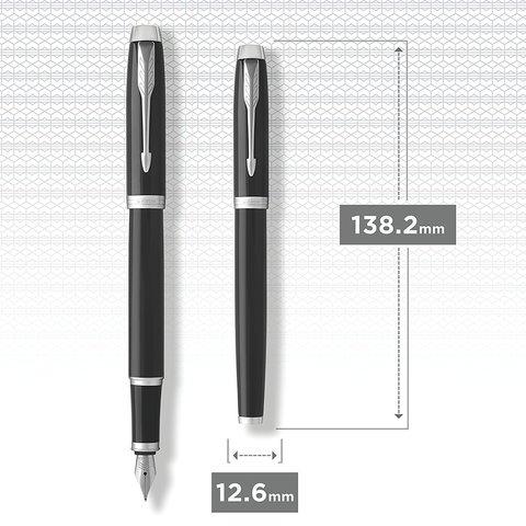 Перьевая ручка Parker IM Metal Black CT123