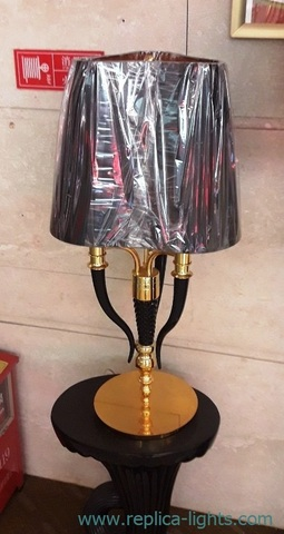 Visionnaire Esmeralda table lamp by Ipe cavalli ( black + gold ) 1