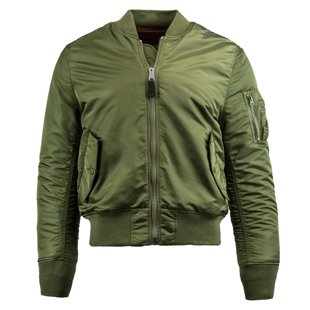 Куртка Бомбер - MA-1 Slim Fit Alpha (олива - s.green)