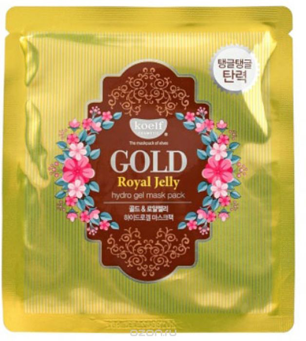 KOELF Маска д/лица гидрогел. с золотом и маточным молочком GOLD & ROYAL JELLY MASK, 30 гр