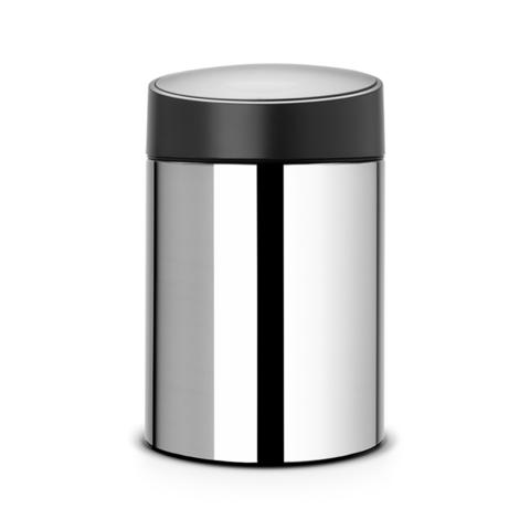 Мусорный бак Slide Bin (5 л), Стальной полированный, арт. 397127 - фото 1
