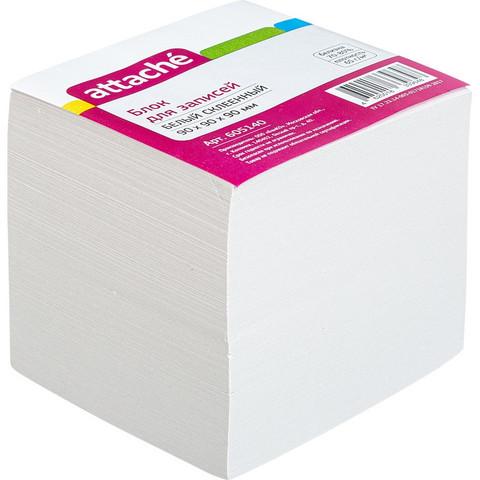 Блок-кубик ATTACHE ЭКОНОМ на склейке 9х9х9 белый