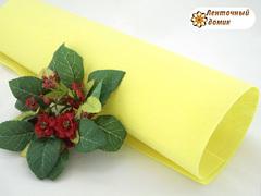 Фетр жесткий толщина 1 мм светло-желтый