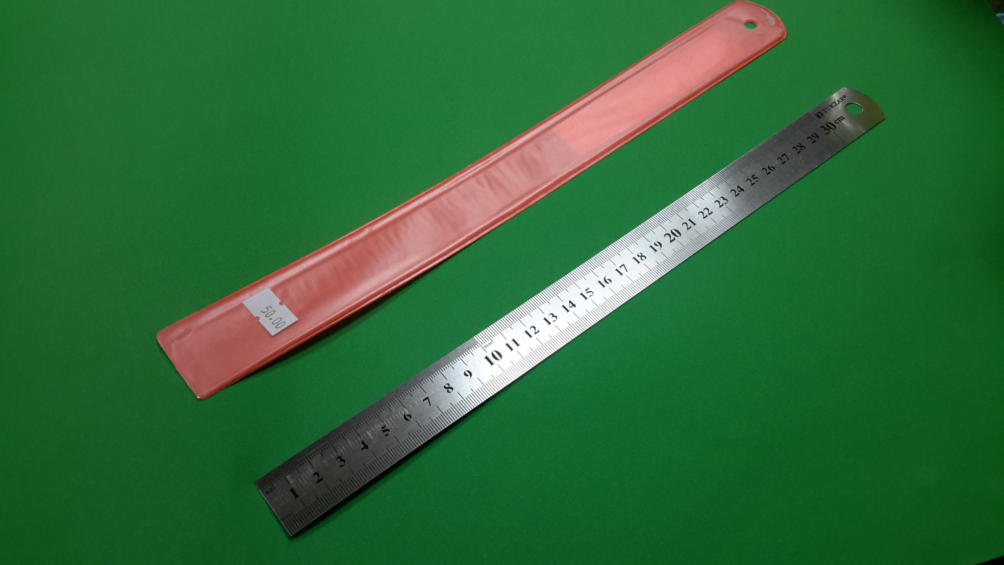 Линейка металлическая, 30 см, 1 шт.