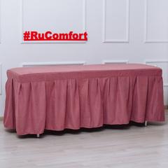 Аксессуары для массажных столов Матрас для кушетки 30мм с юбкой, микровелюр Матрас-с-юбкой-брусничный.jpg