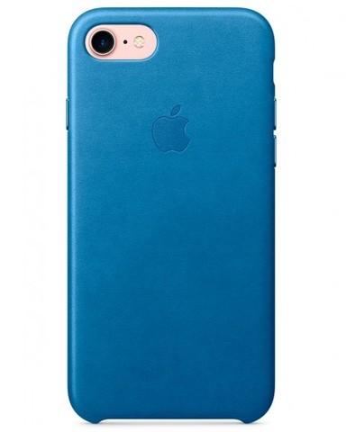Чехол iPhone 7 Leather Case /electric blue/