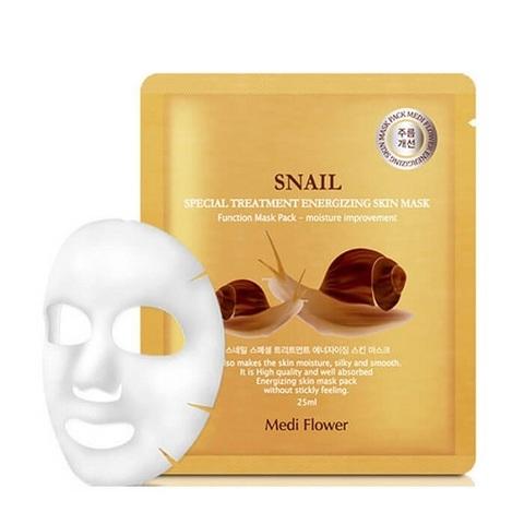 Маска для лица интенсивная с экстрактом улитки Medi Flower Special Treatment Energizing Mask Pack Snail 5x25мл