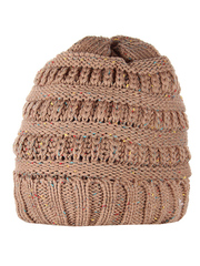 HT1813-4 шапка женская, коричневая