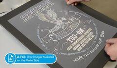 Комплект трансферной бумаги Forever Laser-Dark No-Cut LowTemp А-Foil + B paper. Формат А3 (297x420 мм)