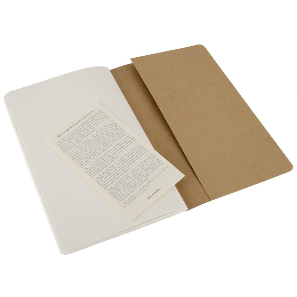 Набор 3 блокнота Moleskine Cahier Journal Large, цвет бежевый, без разлиновки