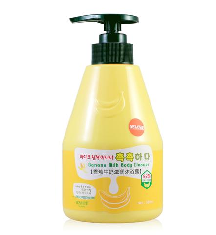 Welcos Kwailnara Гель для душа банановый Kwailnara Banana Milk Body Cleanser
