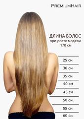 Натуральные волосы на заколках 6/613 меллированный каштановый