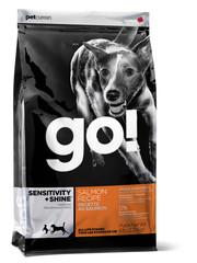 Корм для щенков и взрослых собак, GO! SENSITIVITY + SHINE Salmon Dog Recipe, со свежим лососем и овсянкой
