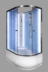 Душевая кабина DETO ЕМ4512 L N 120х80 см с LED-подсветкой и гидромассажем