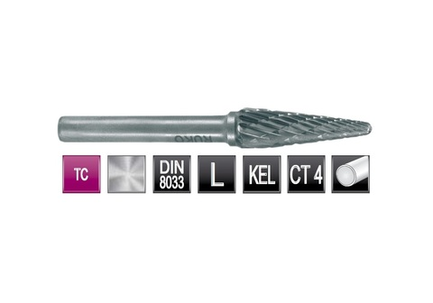 Бор-фреза Ruko твердосплавная L(KEL) 16,0х33мм S=6мм 116237