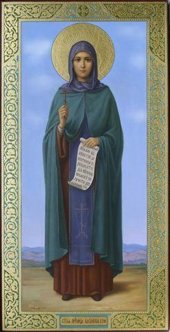 Икона святая Василисса на дереве на левкасе мастерская Иконный Дом