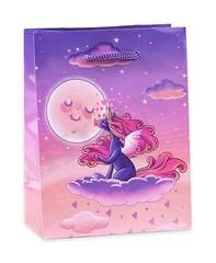 Пакет подарочный Единорог на облаке 11.5x14.5x6 см, 1шт.