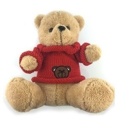 Teddy Bear Red Sweater Plush
