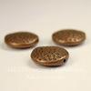 Бусина металлическая круглая плоская 17х6 мм (цвет - античная медь)