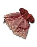 Платье из тафты - Бордо. Одежда для кукол, пупсов и мягких игрушек.