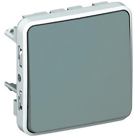 Выключатель одноклавишный перекрестный Промежуточный переключатель - 10 AX - 250 В~. Цвет Cерый. Legrand Plexo (Легранд Плексо). 069521