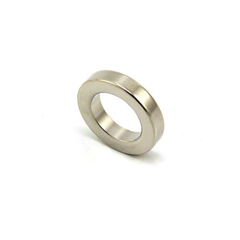 Магнит 25х15х5 мм, N38, никель, неодимовое кольцо