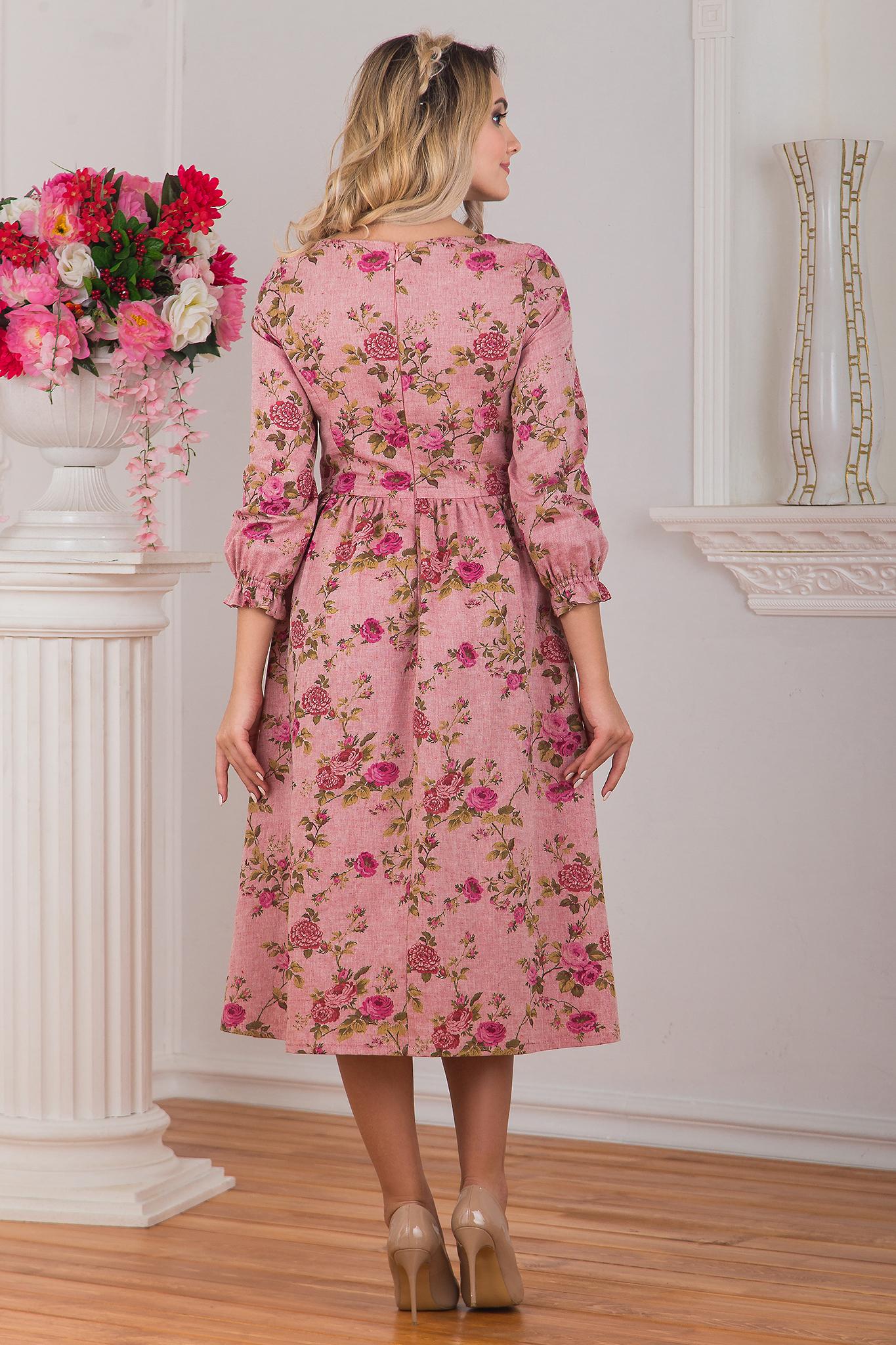 Вид сзади Платье миди Прованс
