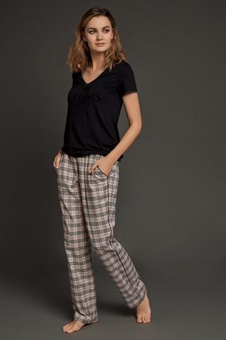 LAETE Женская пижама  с брюками в клетку 51574-2