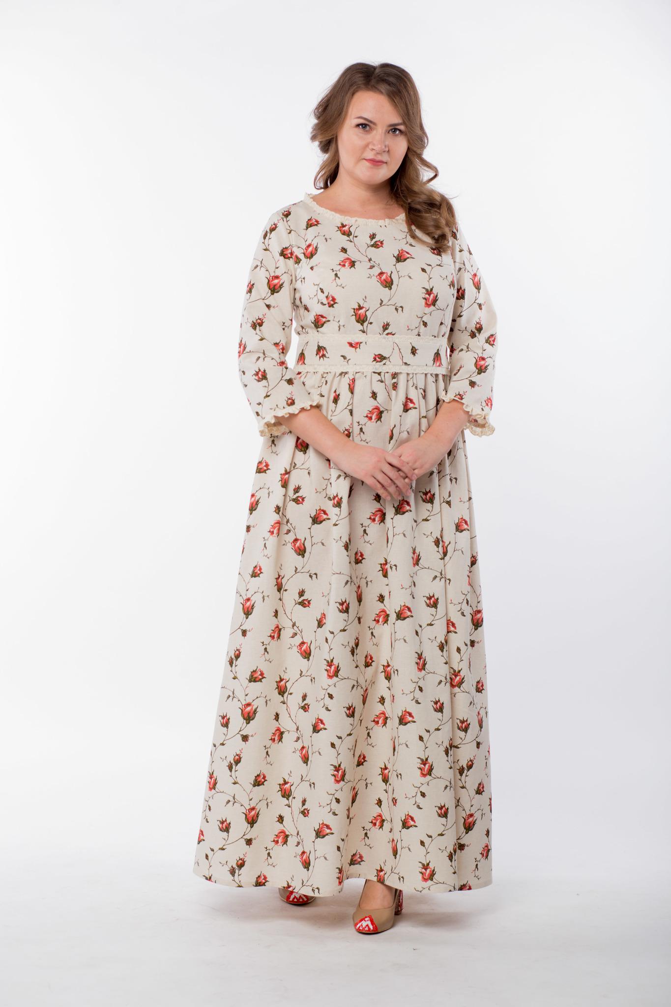 Платье льняное Сударыня