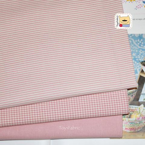 Набор тканей корейский двусторонний хлопок 51822 Розовый (45х35см/3шт.)