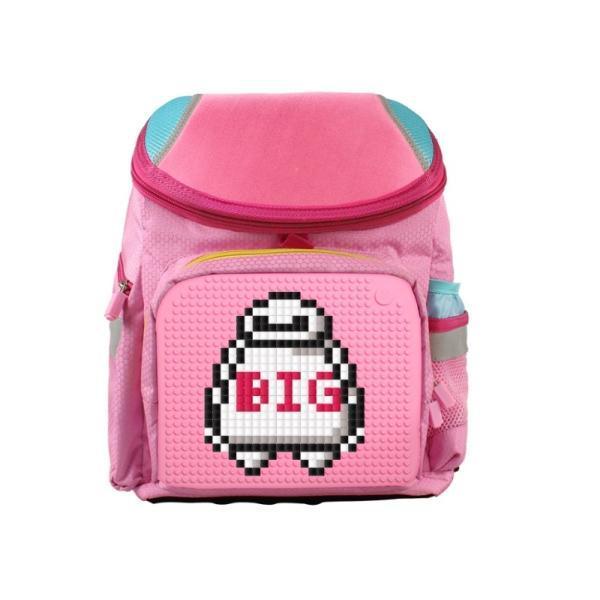 Школьный пиксельный рюкзак Super Class розовый с пиксельной мозаикой