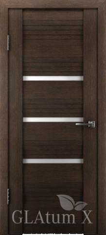 Дверь GreenLine X-31 Atum, стекло белое, цвет венге, остекленная