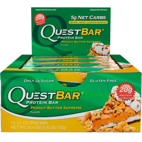 Quest Nutrition Quest Protein Bar Peanut Butter Supreme (Арахисовое масло), 12 шт