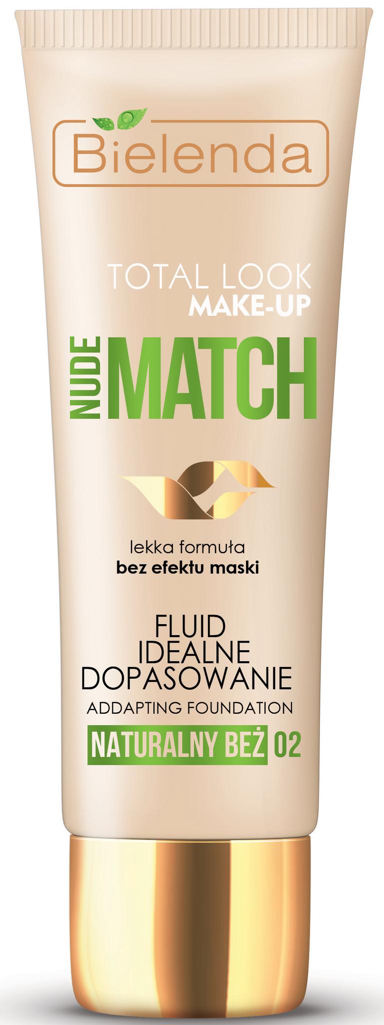 TOTAL LOOK MAKE-UP Тональный крем адаптирующийся под цвет кожи NUDE MATCH - натурально бежевый 30г