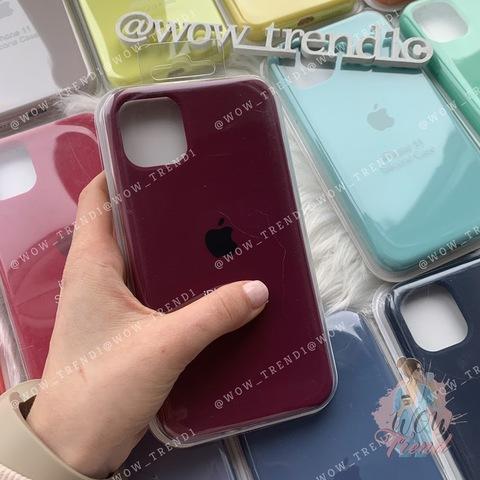 Чехол iPhone 11 Silicone Case Full /marsala/