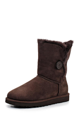 Угги UGG Bailey Button Bling Chocolate