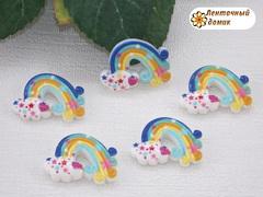 Пластиковый декор радуга голубая