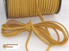 Шнур замшевый плоский песочный 3*1,5 мм