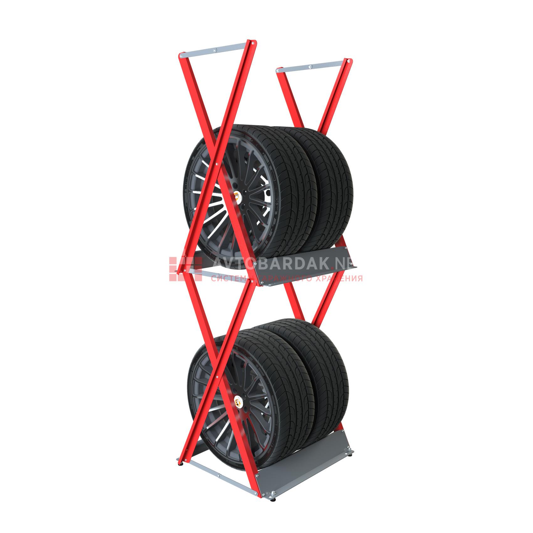 Стеллаж для колес верт. (до R18, ширина до 255)